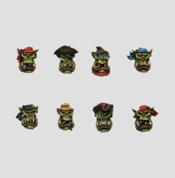 MaxMini: Pirate Orc Boys Heads (10)