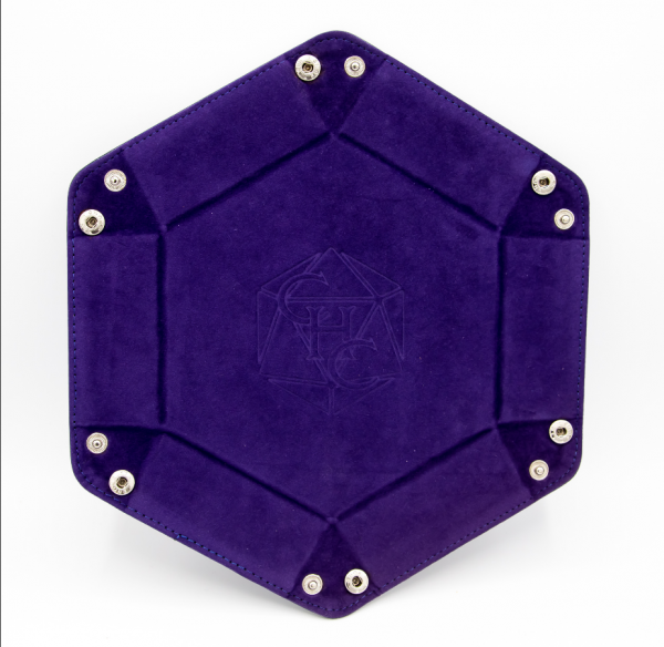 Hexagon Dice Tray - Dark Purple