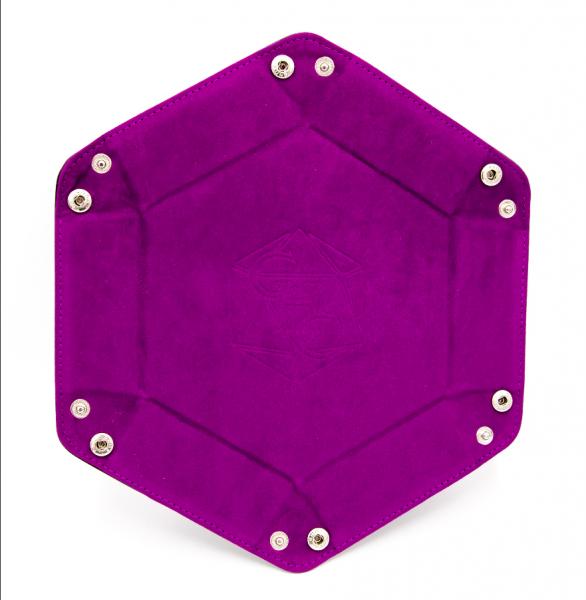 Hexagon Dice Tray - Purple