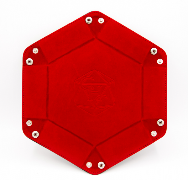 Hexagon Dice Tray - Red