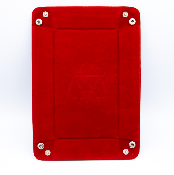 Rectangle Dice Tray - Red