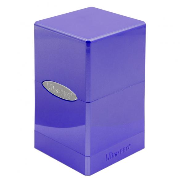 Ultra Pro: Satin Tower Deck Box - Hi-Gloss Amethyst