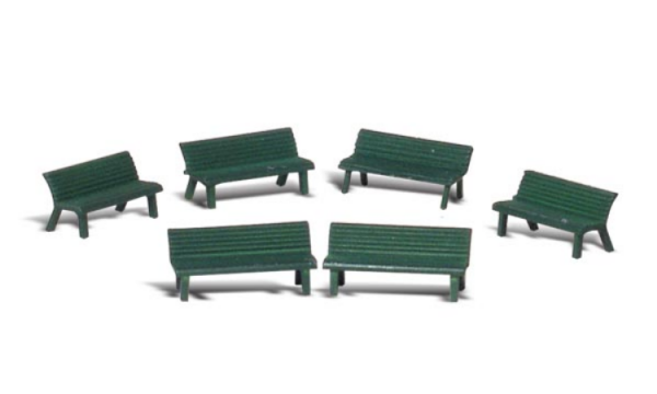 Woodland Scenics: O-scale Park Benches