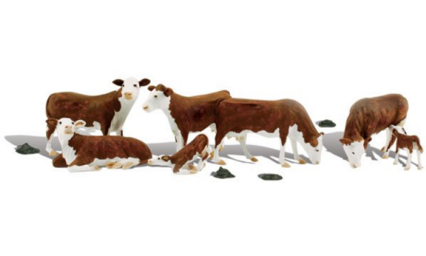 Woodland Scenics: O-scale Hereford Cows