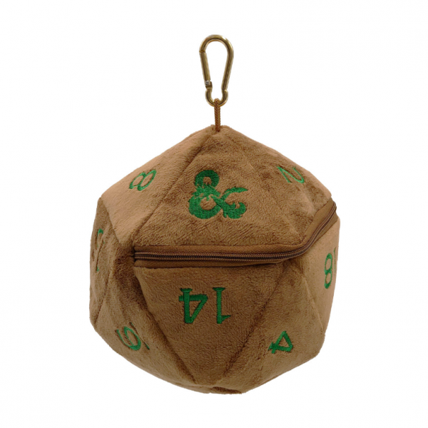 Dungeons & Dragons: Fall 21 Copper and Green D20 Plush Dice Bag