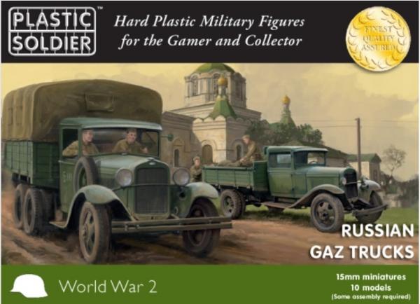 15mm WWII (Russian): GAZ Trucks