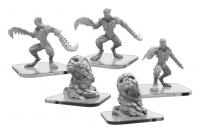 Monsterpocalypse: Blade Revenants and Hurling Swarms – Necroscourge Units (metal)