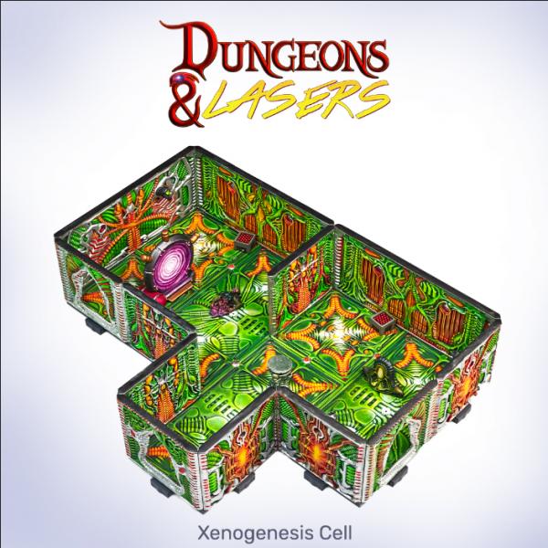 Dungeons & Lasers: Miniature Terrain Xenogenesis Cell Set