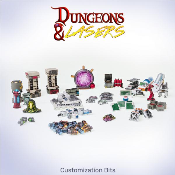 Dungeons & Lasers: Miniature Terrain Sci-fi Customization Bits