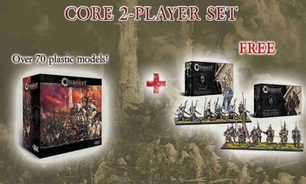 Conquest - 2 Player Bundle Deal: Core Box with Steel Legion and Marksman Clones