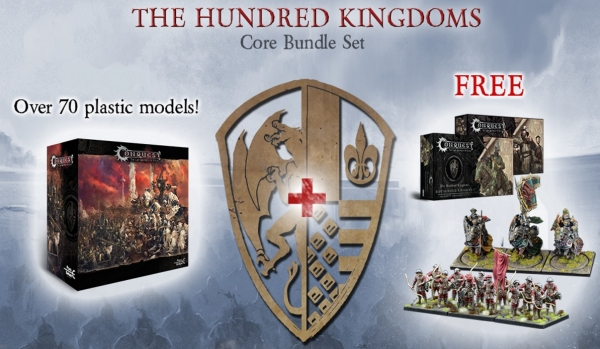 Conquest - Hundred Kingdoms Bundle Deal: Core Box with Militia Bowmen and Household Knights