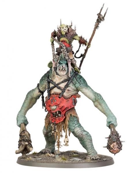 Age of Sigmar: Breaka-boss on Mirebrute Troggoth