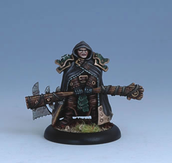 Iron Kingdoms Miniatures: Potent Bradigus, Blackclad Druid