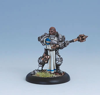 Iron Kingdoms Miniatures: Bastian Kinnet, Battle Chaplain