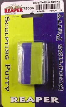 Green Stuff Putty - Blue/Yellow Epoxy (4'' Strip)
