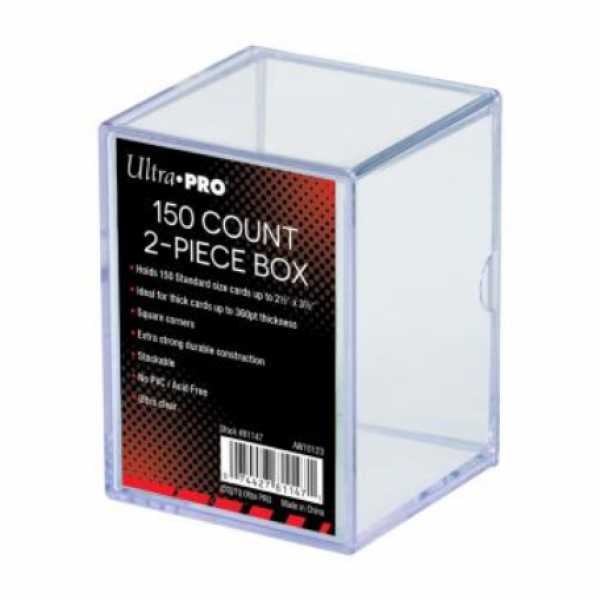 Ultra-Pro: 2-Piece Clear Card Storage Box (holds 150)