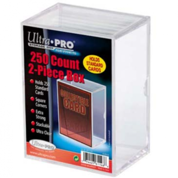 Ultra-Pro: 2-Piece Clear Card Storage Box (holds 250)