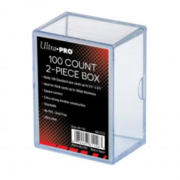 Ultra-Pro: 2-Piece Clear Card Storage Box (holds 100)
