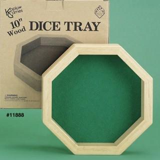 Wood Dice Tray Octagon (10'')