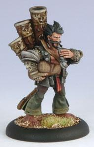 Warmachine: (Mercenaries) Rhupert Carvolo, Piper Of Ord