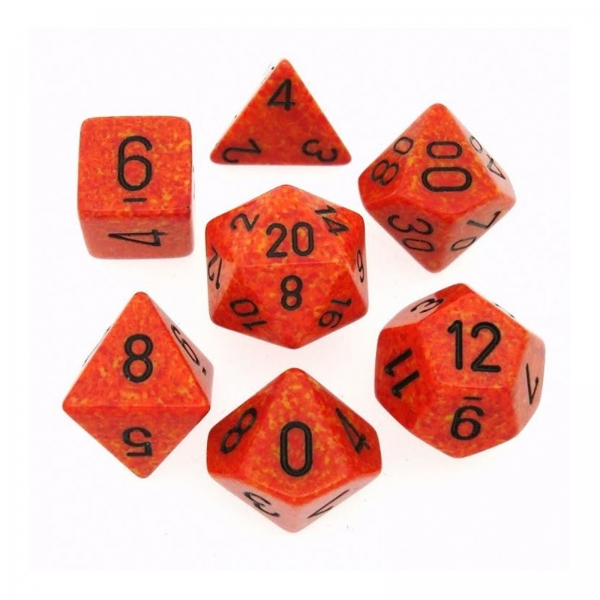 Chessex Dice: Fire Poly 7-dice Cube