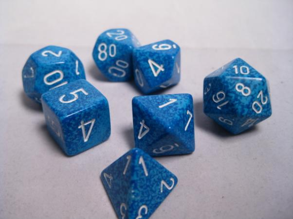 Chessex Dice: Water Poly 7-dice Cube