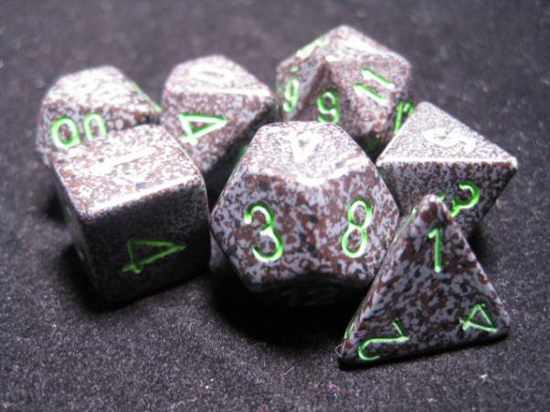Chessex Dice: Earth Poly 7-dice Cube