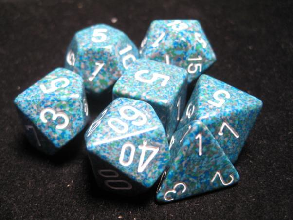 Chessex Dice: Sea Poly 7-dice Cube