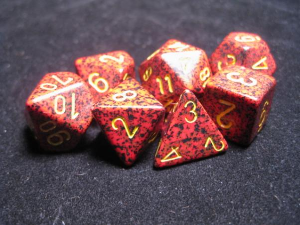 Chessex Dice: Mercury Poly 7-dice Cube