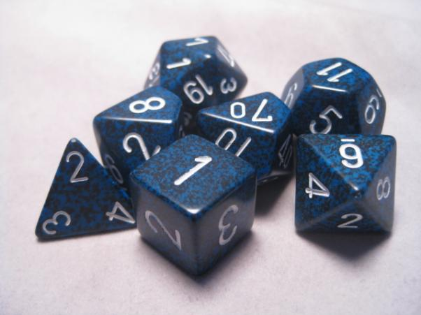Chessex RPG Dice Sets: Stealth Speckled Polyhedral 7-Die Set
