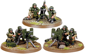 Warhammer 40K: Cadian Heavy Weapon Teams Boxed Set