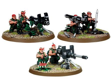Warhammer 40k: Imperial Guard Catachan Heavy Weapon Teams