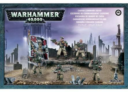 Warhammer 40K: Imperial Guard Cadian Command Squad Boxed Set