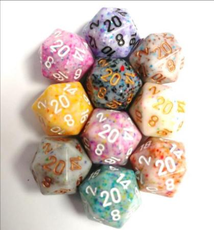 Chessex Bulk Dice Sets: Assorted Polyhedral Pound of Dice (1lb.)