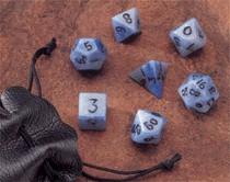 Dwarven Stone Dice: 12mm Blue Jasper Polyhedral 7-Die Set