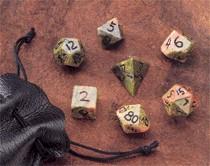 Dwarven Stone Dice: 12mm Unikite Polyhedral 7-Die Set