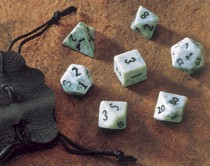Dwarven Stone Dice: 12mm Green Jade Dice Set