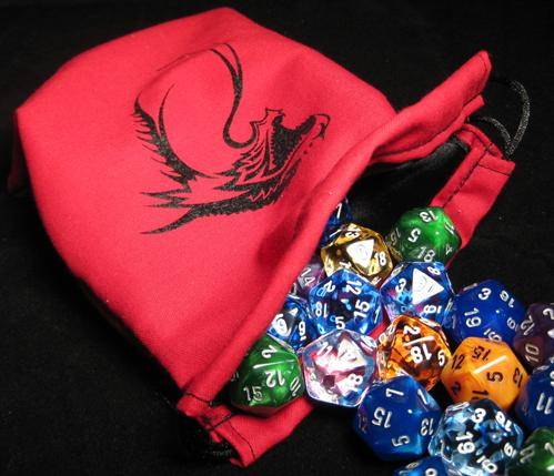 Red Tribal Dragon Dice Bag