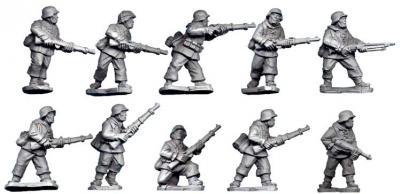 Artizan Designs WWII 28mm: Late War German Infantry Section I (in smocks) (10)