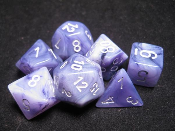 Chessex Dice: Phantom Black/Silver Poly 7-Dice Set