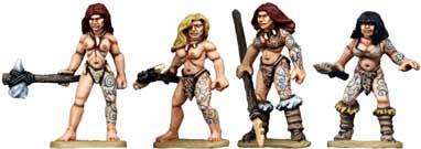 28mm Prehistoric: Cavewomen