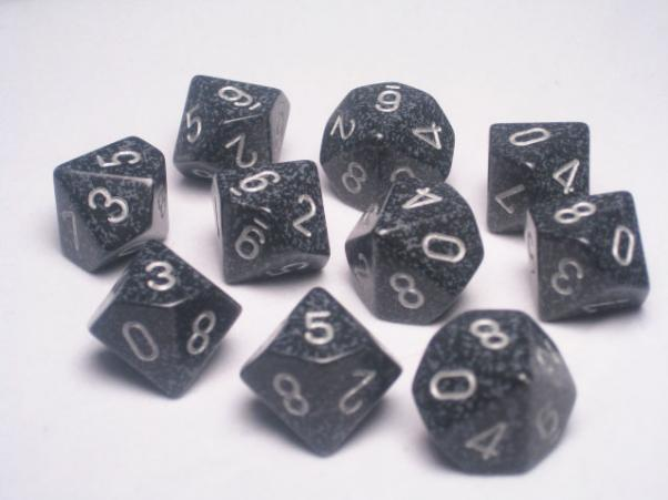 Chessex Dice Sets: Ninja Speckled d10 Set (10)