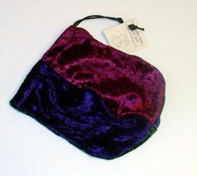 Velvet Dice Bag Purple and Turquoise Gallant Hand/'s Gamers Gear BRAND NEW