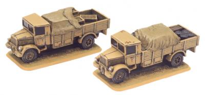 Flames of War: Lancia 3RO 6-ton truck (x2 resin) (Re-mastered)