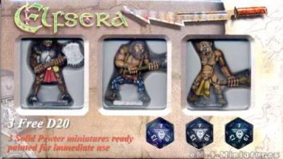 Elfsera Miniatures Giants Set (3) - Hand Painted!