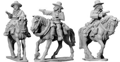 Artizan Designs Wild West: 7th Cavalry w/ Pistols (Mounted) (3)