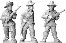 Wild West: Buffalo Soldiers w/Carbines (foot) (3)