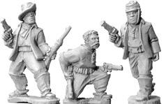 Artizan Designs Wild West: Buffalo Soldiers with Pistols (foot) (3)