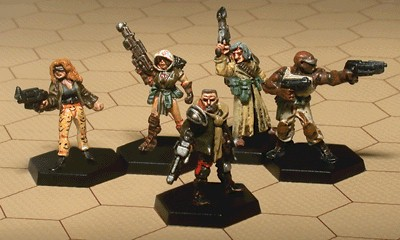 em4: Glory Seekers - Street Gang Blades Miniatures Set (5) Hand Painted!