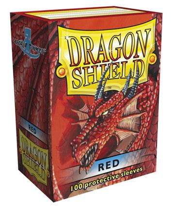 Dragon Shields: Classic Red Card Sleeves (100)